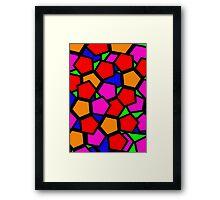 Hexagons Gone Wild Framed Print
