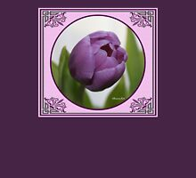 Purple Passion ~ A Tulip Portrait Womens Fitted T-Shirt