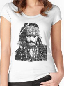 Johnny Depp as Captain Jack Sparrow Women's Fitted Scoop T-Shirt