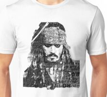 Johnny Depp as Captain Jack Sparrow Unisex T-Shirt
