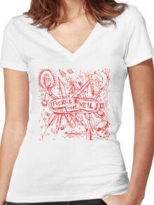 Pierce the Veil Misadventures Women's Fitted V-Neck T-Shirt