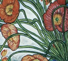 Poppies and Plates Sticker