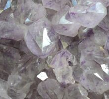 Clear Crystal Amethyst Sticker