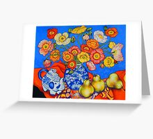 Poppies & Pears Greeting Card