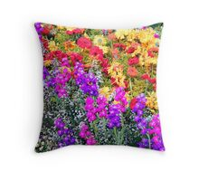 Floral Rainbow Throw Pillow