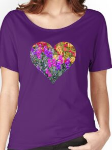 Floral Rainbow Women's Relaxed Fit T-Shirt