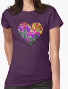 Floral Rainbow Womens Fitted T-Shirt