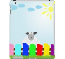 white sheep on the lawn iPad Case/Skin