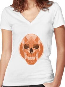 Polyskull Women's Fitted V-Neck T-Shirt