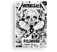 CLASSIC GIGS POSTER Canvas Print