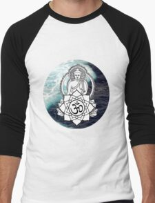 Buddha Peace  Men's Baseball ¾ T-Shirt