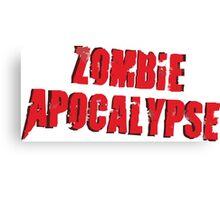 Zombie Apocalpse Logo Art Canvas Print