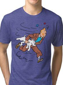 Tintin Run Tri-blend T-Shirt