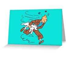 Tintin Run Greeting Card