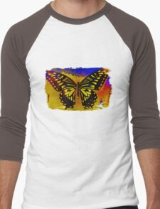 """psychedelic butterfly""  Men's Baseball ¾ T-Shirt"