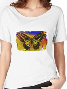 """psychedelic butterfly""  Women's Relaxed Fit T-Shirt"