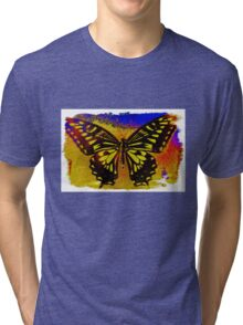 """psychedelic butterfly""  Tri-blend T-Shirt"