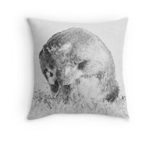 Badger carbon style Throw Pillow