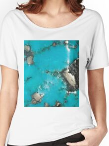 Turquoise & Gold Women's Relaxed Fit T-Shirt