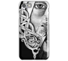 V Logo with Half Face King Ragnar Vikings iPhone Case/Skin
