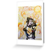 Abe and Gandhi Kiss Clone High Greeting Card