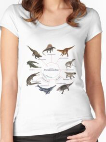 Pseudosuchia: The Cladogram Women's Fitted Scoop T-Shirt