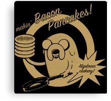 makin bacon pancakes Canvas Print