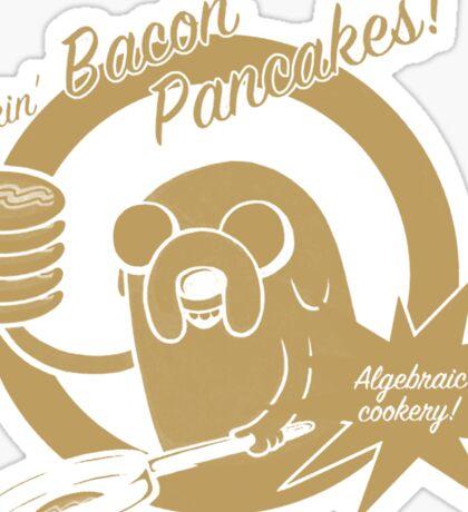 makin bacon pancakes Sticker