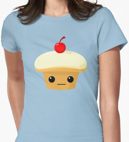 Cupcake with a Cherry on top! Womens Fitted T-Shirt