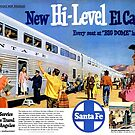 Chicago-New Mexico-Los Angeles, El Capitan Hi-Level Big Dome Luxury, Santa Fe Train Travel, 1950s by coralZ