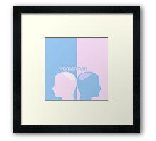 wise head men and women,vector illustration Framed Print