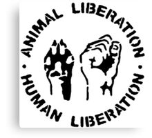 animal Liberation Canvas Print