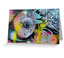 Colorful Graffiti on the textured wall Greeting Card