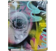 Colorful Graffiti on the textured wall iPad Case/Skin