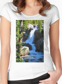 Alberta Falls Women's Fitted Scoop T-Shirt