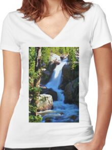 Alberta Falls Women's Fitted V-Neck T-Shirt