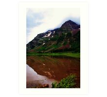 Maroon Bells Reflection in Crater Lake Art Print