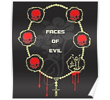 Faces of Evil/Most Wanted serial killers t-shirts Poster