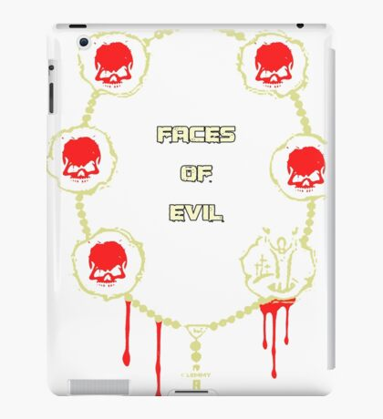 Gangster Totenkopf T-Shirts / Faces of Evil iPad Case/Skin