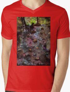 River of fireworks Mens V-Neck T-Shirt