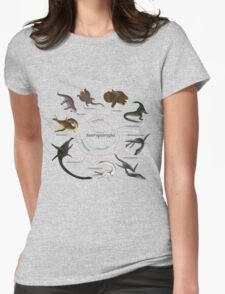 Sauropterygia: The Cladogram Womens Fitted T-Shirt