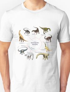 Sauropodomorpha: The Cladogram T-Shirt