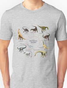 Sauropodomorpha: The Cladogram Unisex T-Shirt