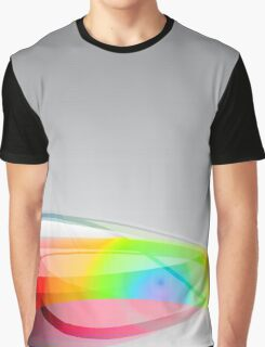 Abstract Spectral Wave Background Graphic T-Shirt
