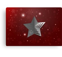 Abstract Christmas Star Background Canvas Print