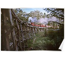 Puffing Billy on Trestle Bridge 19800516 0019 Poster