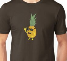 Heavy Metal Pineapple Unisex T-Shirt