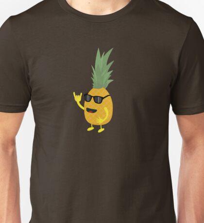 Heavy Metal Pineapple Unisex T-Shirt