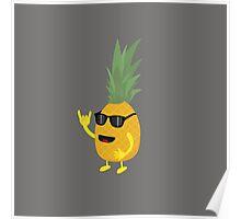 Heavy Metal Pineapple Poster