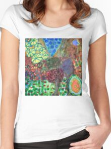 The Egg in the Magic Forest  Women's Fitted Scoop T-Shirt